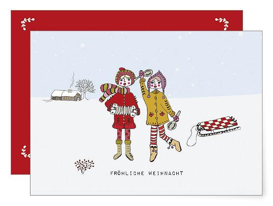 Fröhliche Weihnacht | Klappkarte