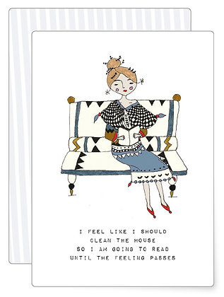 Read a book | Postkarte