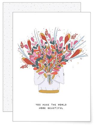 Blumenstrauß | Klappkarte