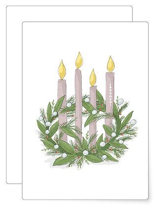 Adventskranz   Postkarte