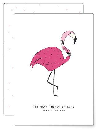 Flamingo | Postkarte