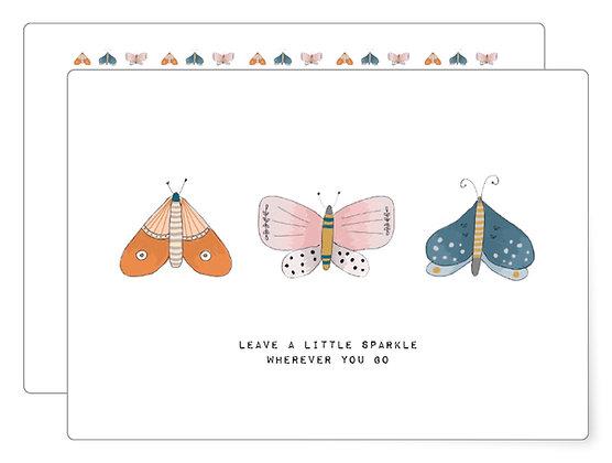 Leave a sparkle | Postkarte