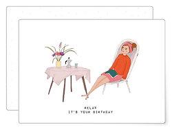Relax it's your birthday | Postkarte