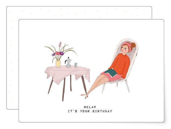 Relax it's your birthday | Postkarte