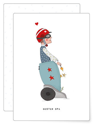 Bester Opa   Postkarte