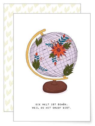 Die Welt ist schön | Klappkarte