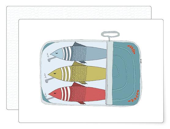 Sardinen   Postkarte
