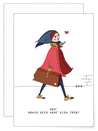 Geh wohin … | Postkarte
