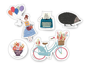 5 Bunte Sticker | Stickerset