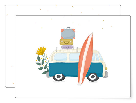 Surfbulli | Postkarte