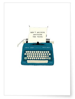 Schreibmaschine | Art Print