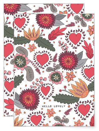 Hello lovely | Klappkarte