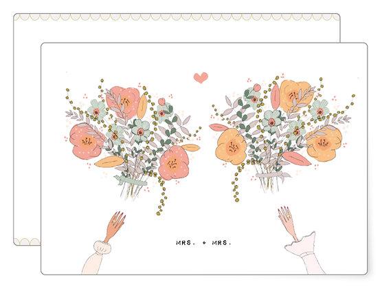 Mrs. + Mrs. | Postkarte