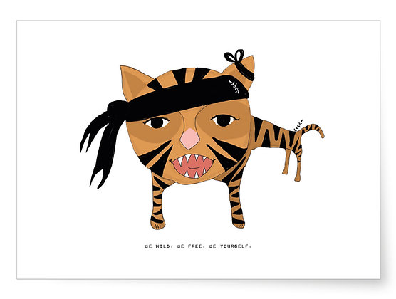 Be wild. Be free. Bee yourself. | Art Print