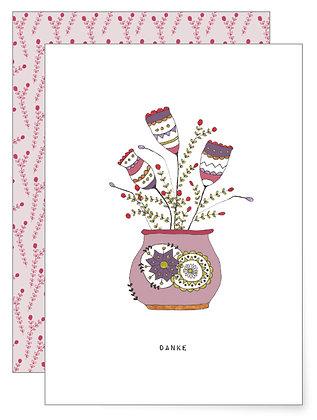 Feine Blumen | Klappkarte