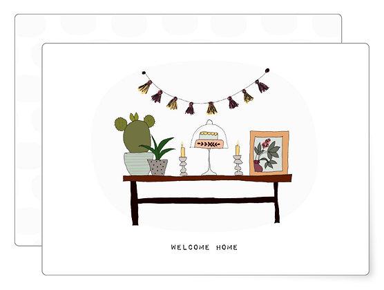 Welcome Home | Postkarte