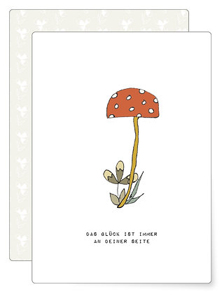 Glück an Deiner Seite | Postkarte