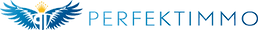 Logo Perfekt Immo blau