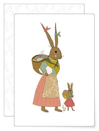Hasenfamilie | Postkarte