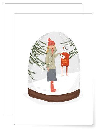 Weihnachtspost   Postkarte