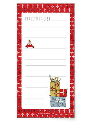 Christmas list | Block DIN lang