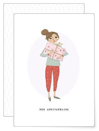 Bon anniversaire   Postkarte