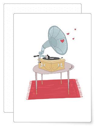 Grammophone | Postkarte