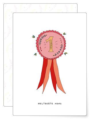 Weltbeste Mama | Postkarte