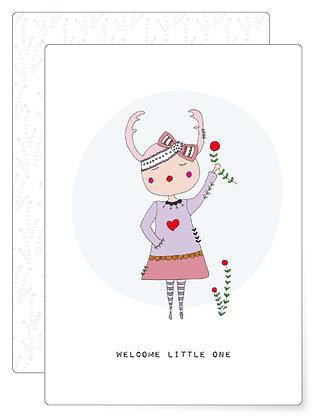 Welcome little one | Postkarte