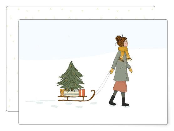 Schlitten | Postkarte