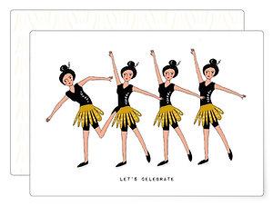 Let's celebrate   Postkarte
