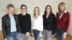 Team Transform Beratung: Mag.a Claudia Schmid . Alice Angermann . Mag.a Barbara Haid . Mag.a Karin Heinisch . Bianca Brandner v.l.n.r.