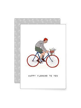 Happy flowers to you | Minikarte
