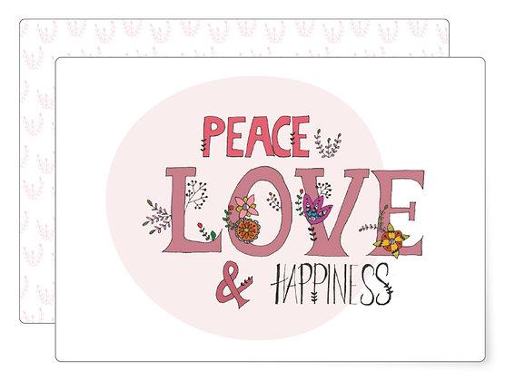 Peace, love and … | Postkarte
