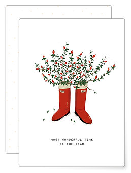 Wonderful time   Postkarte
