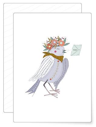 Brieftaube | Postkarte