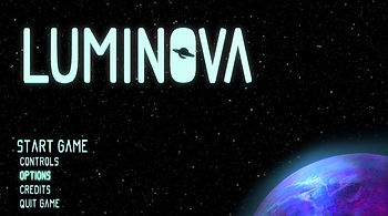 Luminova Title Screen
