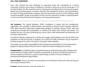 Phoenix Learning and Employment Centre - Special Initiatives (SPIN) Coordinator