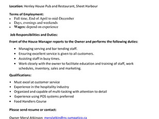 Henley House Pub & Restaurant - Front of House Manager