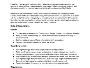 Nova Scotia Works (PeopleWorx) - Career Practitioner (Case Manager)