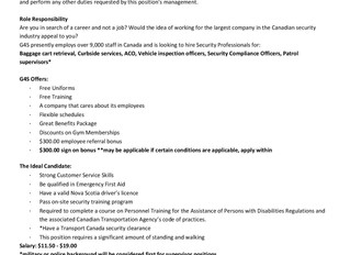 G4S Secure Solutions (Canada) Ltd - Airport Security Positions