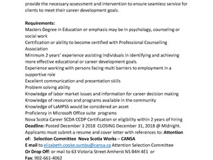 Nova Scotia Works-CANSA - Career Counsellor