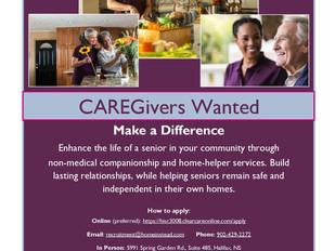Senior Caregivers Wanted