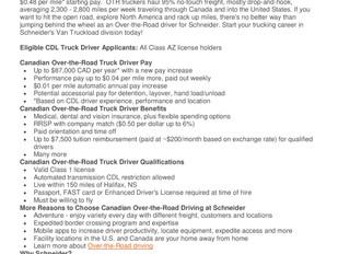 Schneider - Over-the-Road (OTR) Truck Driver