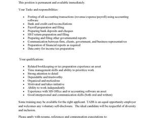 TransAction Business Services (TABS) - Full-Time Bookkeeper