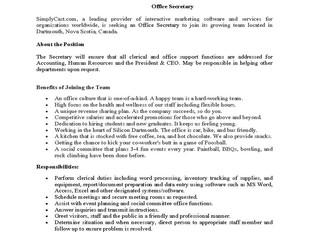 SimplyCast – Office Secretary