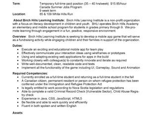 Birch Hills Academy - Mobile App Developer