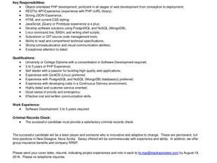 MacKay Meters - Intermediate Software Developers (New Glasgow)