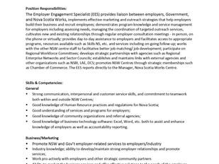PeopleWorx (Nova Scotia Works) - Employer Engagement Specialist (Term)