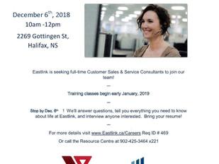 Eastlink - Job Fair, December 6th